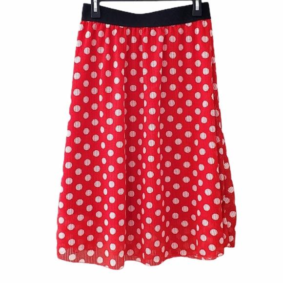 "LuLaRoe ""Minnie"" red & white polka dot skirt XL"